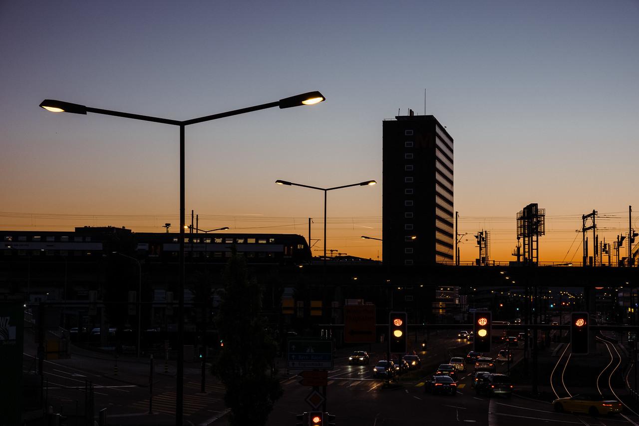 Sunset at Zurich West