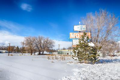 Big Pillow Motel in Winter
