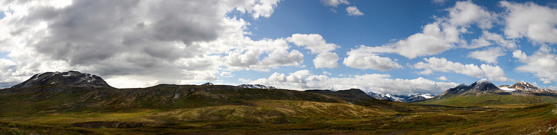Kluane panoram, color