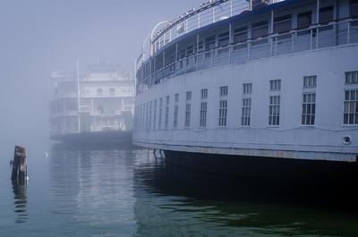 Ferries in the Fog