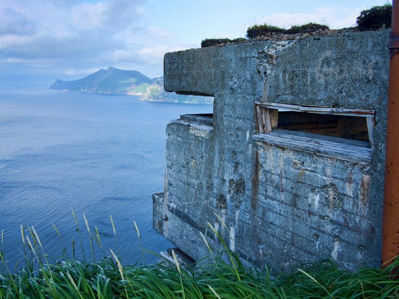 WWII bunker overlooking Unalaska Bay
