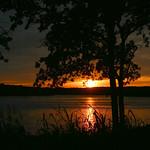 sunset at Lake Gibson
