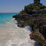 Tulum ruins on beach