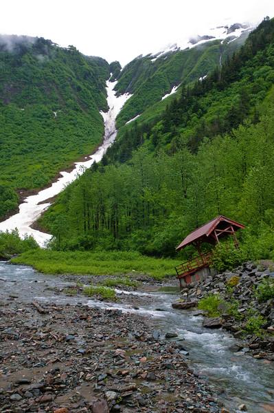 derelict mine building at Perseverance Trail