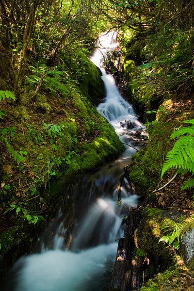 waterfall to Mendenhall Lake