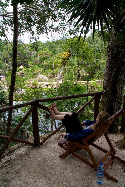 relaxing at Xel-Ha