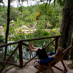 relaxing at Xel-Ha