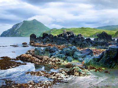 Volcanic rock formation, Summer Bay, Unalaska