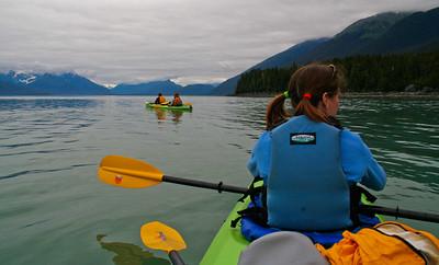 kayaking Berner's Bay