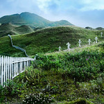 Unalaska cemetary under Mt. Newhall