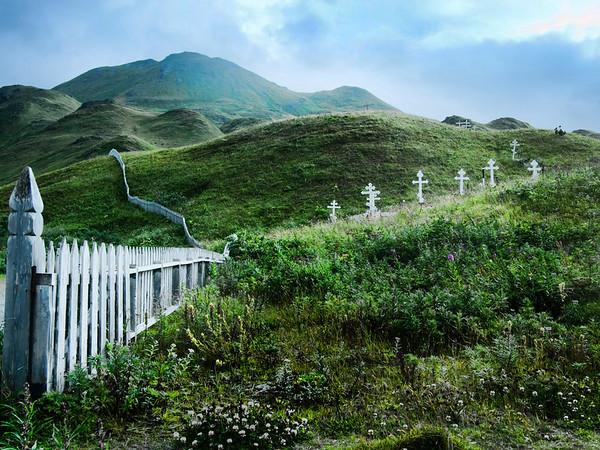 Unalaska cemetary under Mt. Newhall