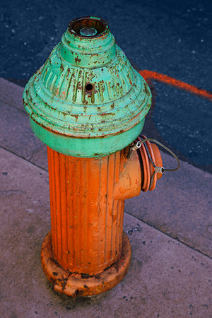 Repainted fire hydrant