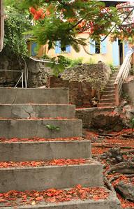Tortola courtyard