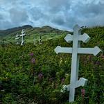 Unalaska cemetery crosses