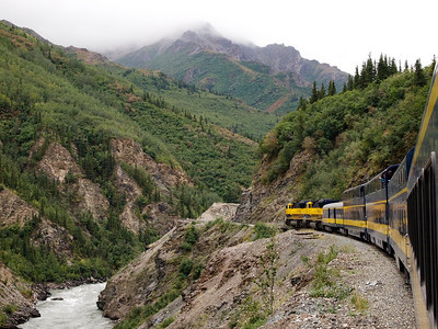 trainride from Fairbanks to Anchorage going through Denali National Park