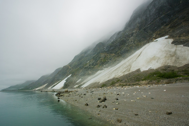 Glacier Bay beach