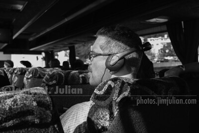 Relaxing on the Bus BW