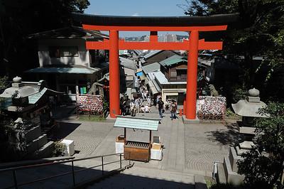 Main torii gate to the shrines on Enoshima.
