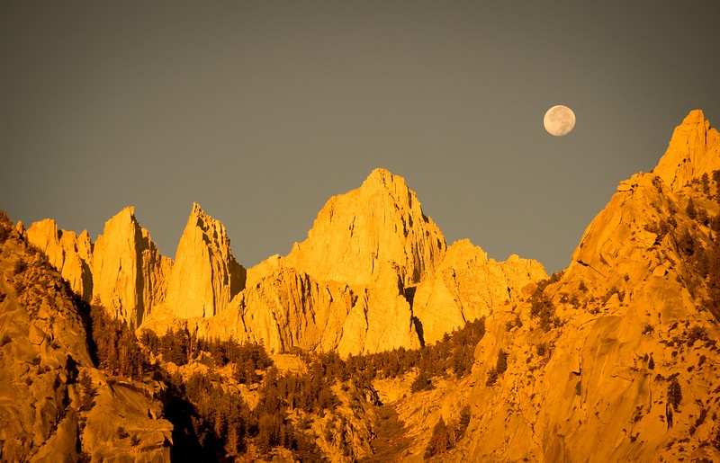 Moonrise over Whitney
