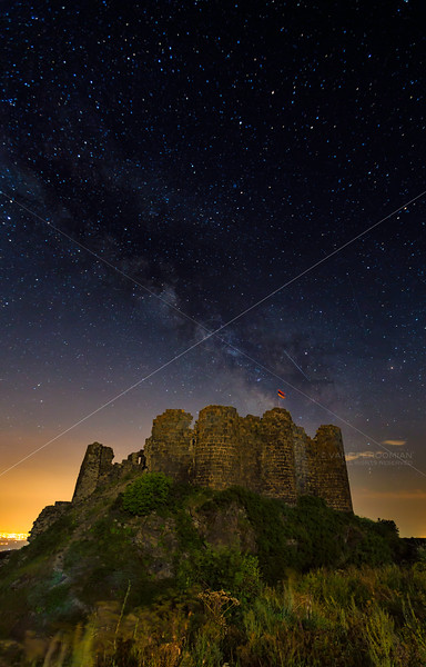The Milky Way Rises over Amberd