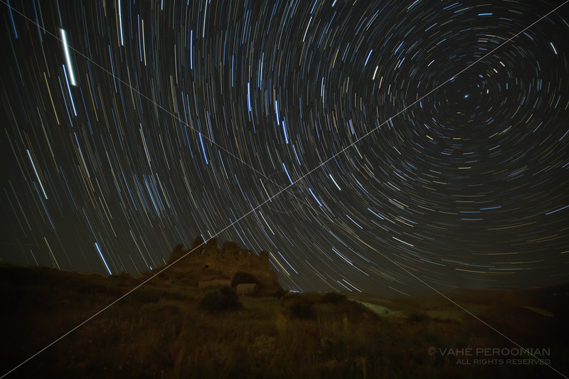 Amberd Fortress Star Trails