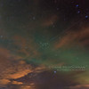 Polaris, the Big Dipper, and Aurora Borealis
