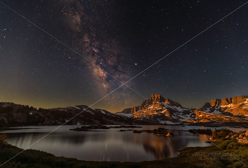 Moonrise and the Milky Way