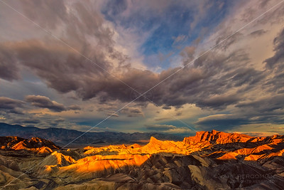 Cloudburst at Sunrise, Zabriskie Point