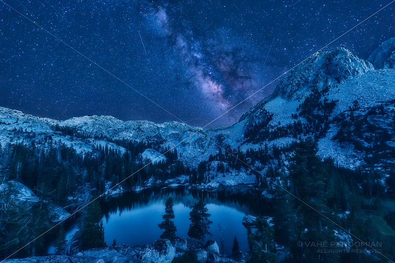 Milky Way over Robinson Lakes