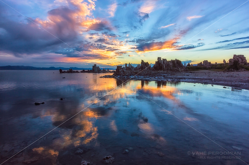 Cloudburst Sunrise, Mono Lake