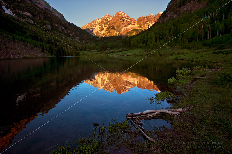 The Maroon Bells, Aglow