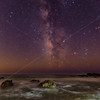 The Milky Way over Malibu Surf