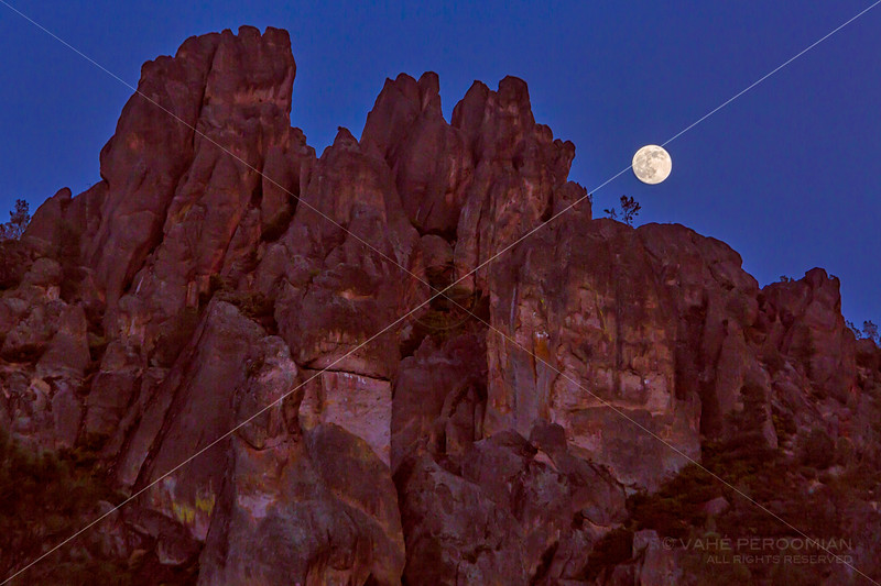 Moon over the Pinnacles