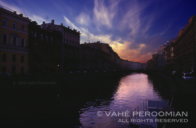 The Canals of St. Petersburg at Sunset