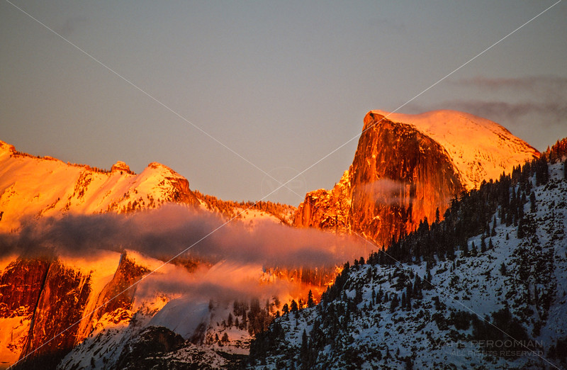 Fiery Sunset at Half Dome