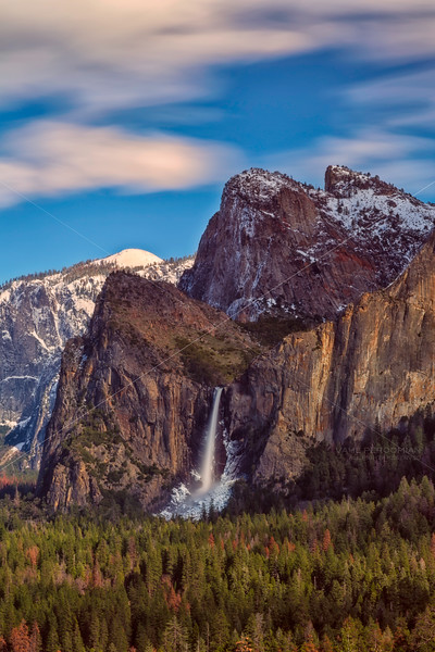 Bridalveil and the Cathedral Rocks