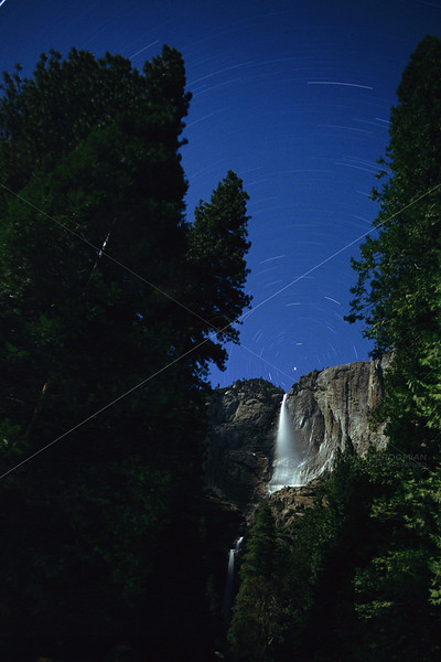 Yosemite Falls Star Trails