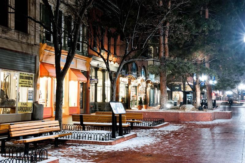 Boulder on a Winter's Night