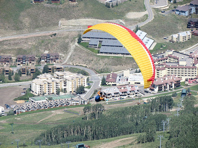 A hang-glider took off while we were up there.  Pretty cool!