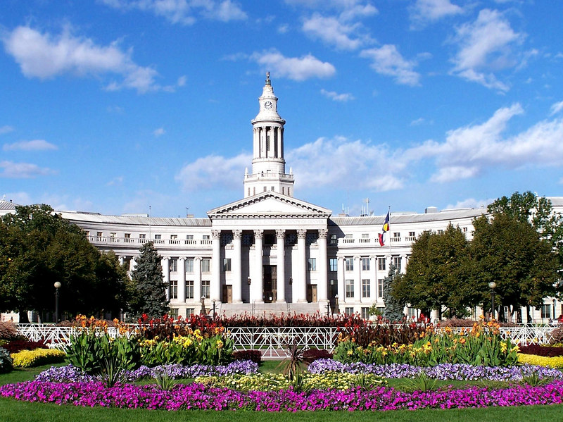 The Denver capitol building.