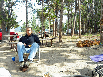 Dan chillin at the campground before the big hike (Image courtesy of  Kurt Hansen)