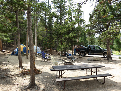Our camp site at Long's Peak Campground