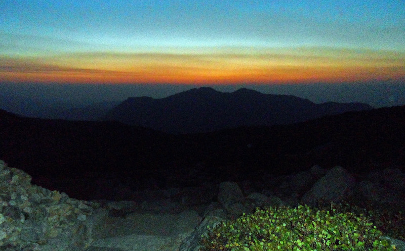 Pre-dawn. Long's Peak trail below Chasm Junction. (Image courtesy of  Kurt Hansen)