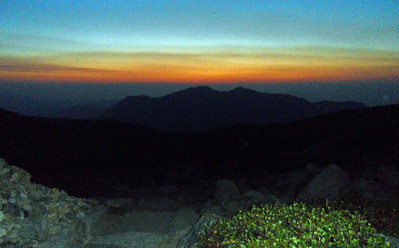 Pre-dawn. Long's Peak trail below Chasm Junction. (Image courtesy of  Kurt Hansen)