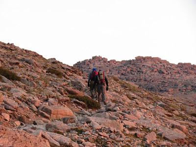 Keith and Kurt heading toward Granite Pass