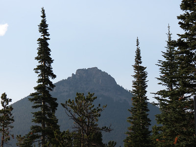 Looking NE at Estes Cone from Long's Peak campground