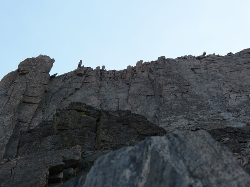 Cliffs above the Keyhole route, west ridge of Long's Peak