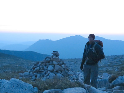 Kurt Hansen Taking a quick break by the trail cairn