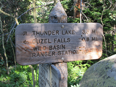 A little over 3 miles to reach Thunder Lake.