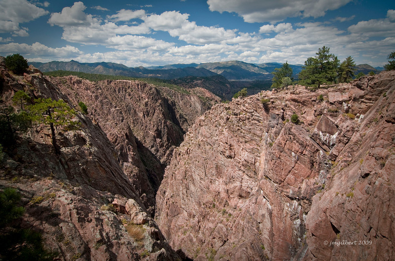 View from the Royal Gorge Bridge Park.